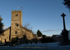 Images of Kirkby Lonsdale (Tony Worrall) Tags: uk blue england sky building tower church architecture buildings town village cross north scenic spire cumbria stmaryschurch kirkbylonsdale