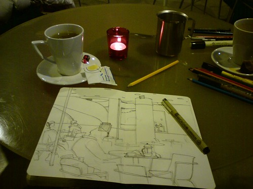 tea and sketching