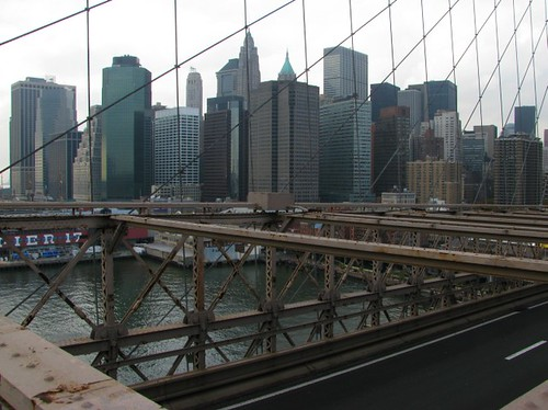 Brooklyn Bridge view of NYC