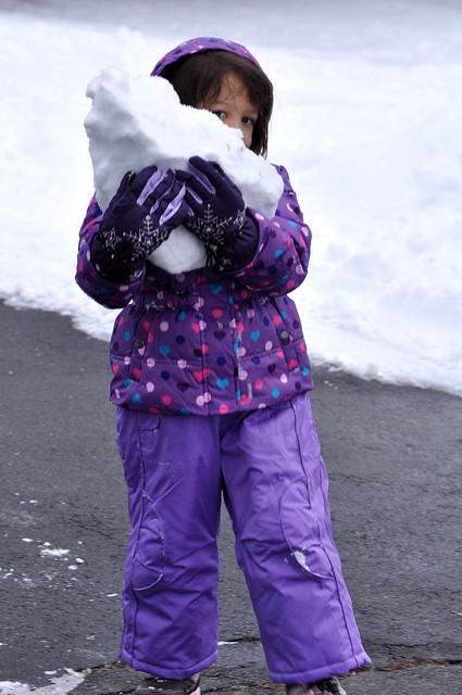 Audrey snow chunk1