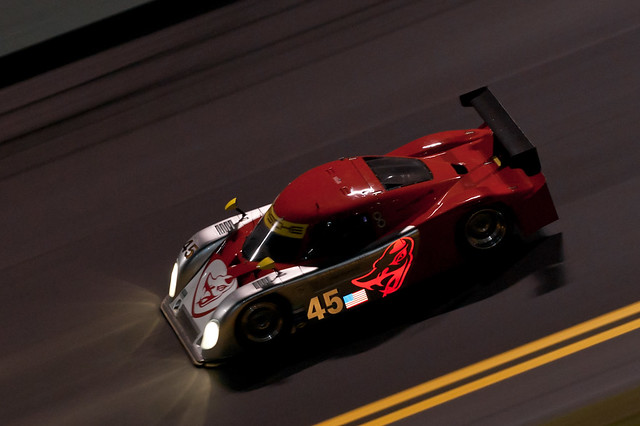 Daytona 2011 - Roar Before the 24 - Flying Lizard Motorsports Porsche Riley