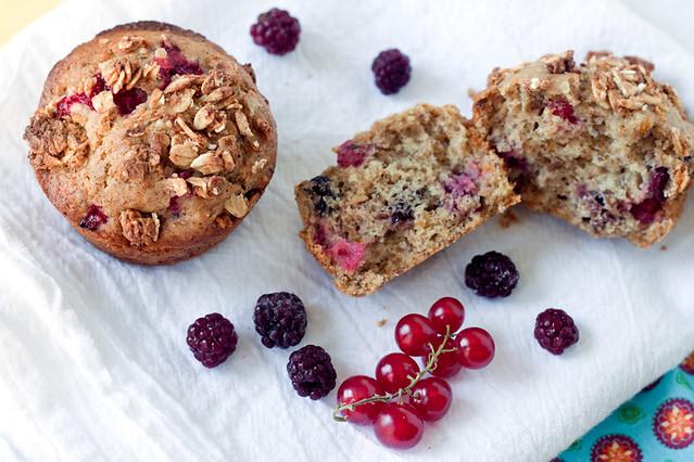 Berry-Orange Crunch Muffins
