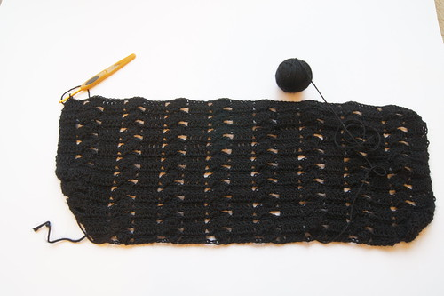 Crochet black shawl