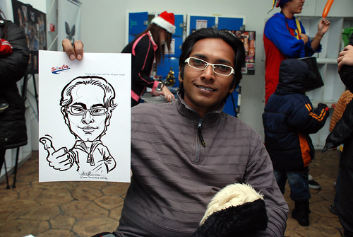 Caricature live sketching for Snow City - Day 7 - 9