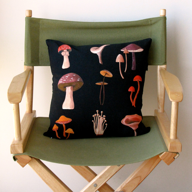 Mushrooms Pillow At Home