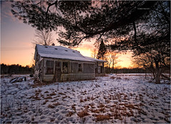 Summer Home (Emily K. Photography) Tags: winter house snow home wisconsin neglect decay abandon wi abandonment
