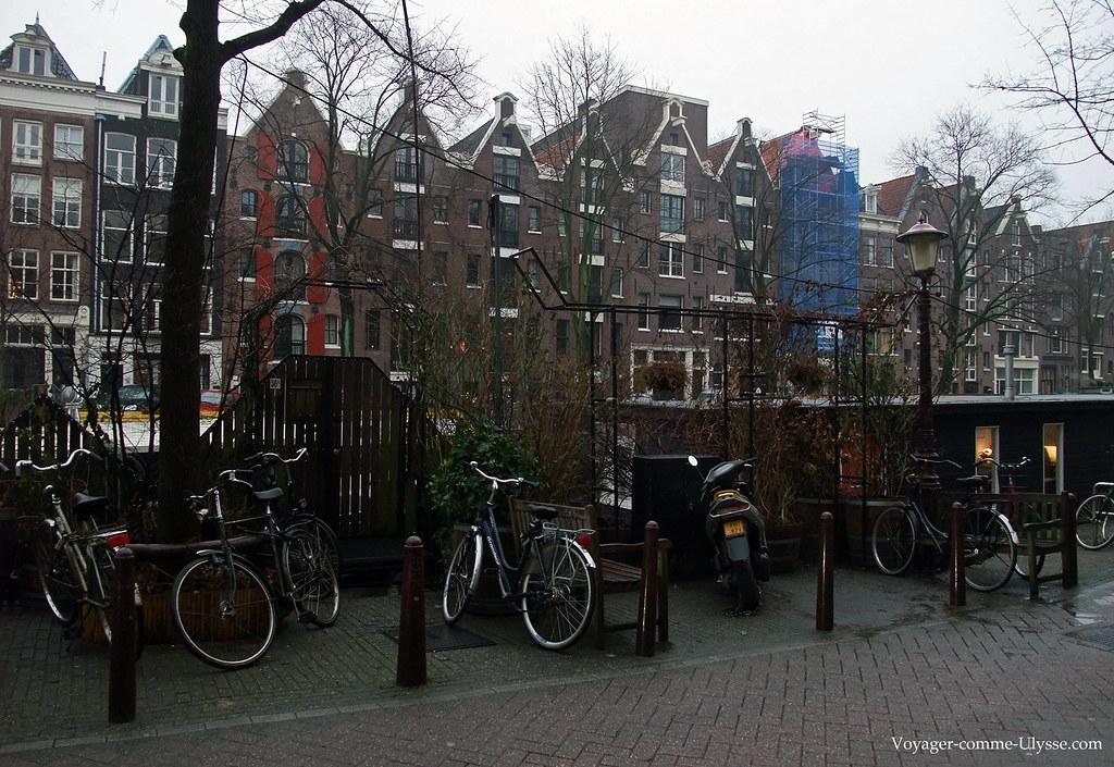 Une rue d'Amsterdam, et ses éternels vélos