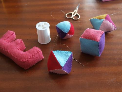 hand stitching...