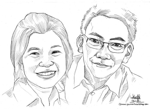 couple portraits in pencil 060111
