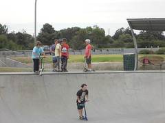Conference and Action (mikecogh) Tags: boys concrete exercise action group skatepark scooters recreation activity glenelg harsh