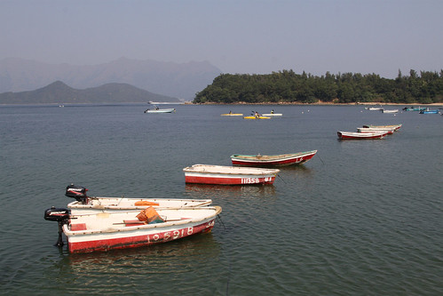 Hire boats at anchor at Wu Kai Sha