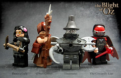 The Blight of Oz minifigures (Morgan190) Tags: lego oz wizard minifig custom wizardofoz m19 minifigure brickarms brickforge mmcb morgan19 morgan190 bricktw