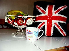 Union Jack Cushion by Manda's challenges :)