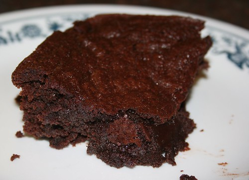 double-chocolate okara brownies