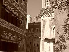 Old city of Sana'a (V.T  G GL) Tags: old houses house building sepia yemen sanaa bab alyemen
