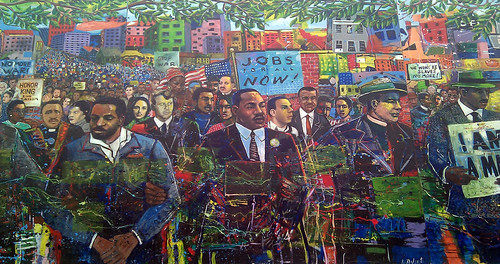 mural at MLK national historic site, Atlanta (by: TheRealEdwin, creative commons license)