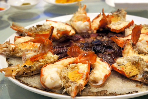 Steamed Glutinous Rice with Fresh Water Prawn & Wax Meat 01
