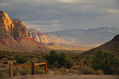 MORNING  RAIN (SANDVIKING) Tags: redrockcanyon las vegas sky usa mountains sunrise desert nevada redrockmountainpreserve
