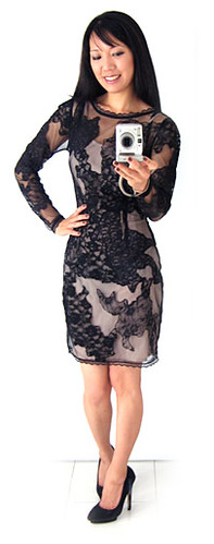 ASOS Lace Black Dress - BEFORE