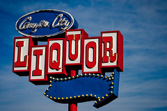 Canyon City Liquor (TooMuchFire) Tags: signs typography route66 neon type lettering neonsigns lightroom arrowsigns azusa oldsigns motherroad vintagesigns sangabrielvalley vintageneonsigns vintagesignage liquorstores canon30d liquorsigns liquorstoresigns oldneonsigns route66signs canyoncityliquor 424wfoothillblvdazusaca route66neonsigns canyoncityliquorazusa