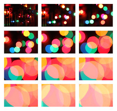 Degrees of bokeh (kevin dooley) Tags: christmas xmas light canon ball circle 50mm different bokeh mosaic 14 size changing change diffusion smaller changes diffused larger diffuse degrees xmaslight chrismaslight 40d degreesofbokeh