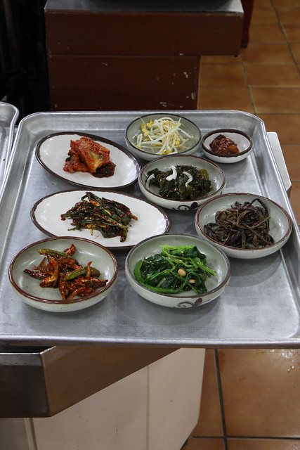 Standard Soputh Korean side dishes