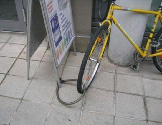 Yellow Bike Lock Fail