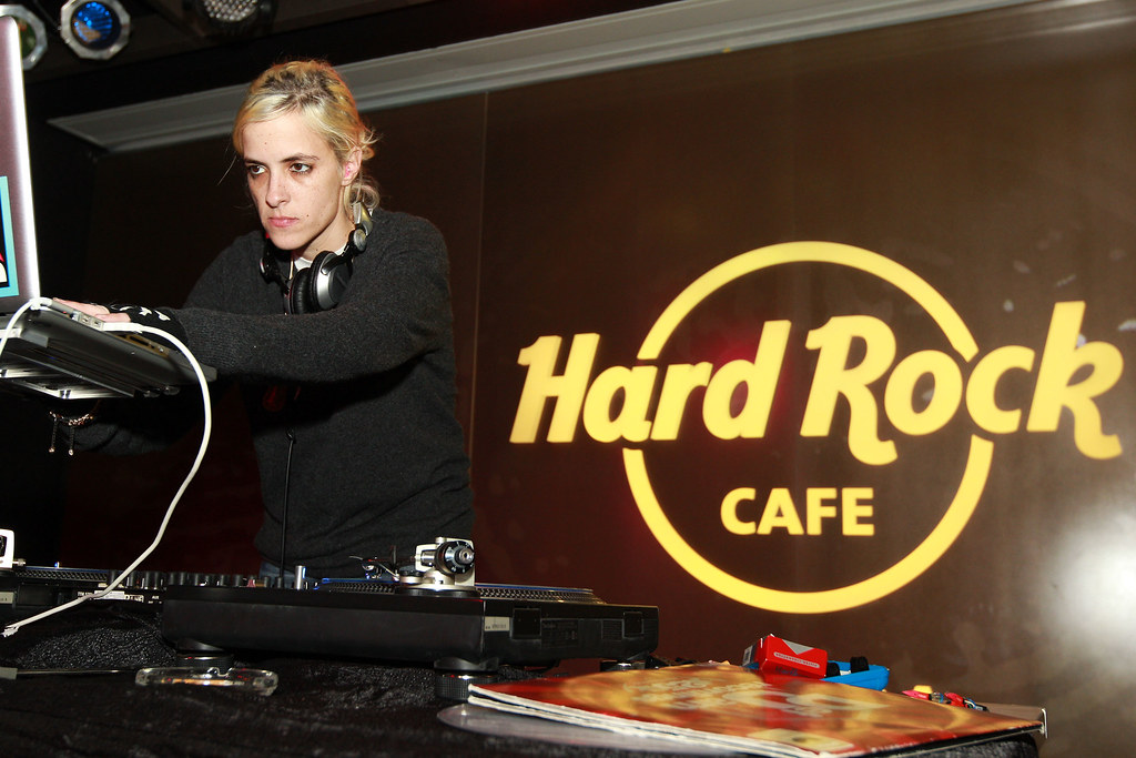 Celebrity DJ Samantha Ronson at the Hard Rock After Party at the new Hard Rock Cafe in Tampa