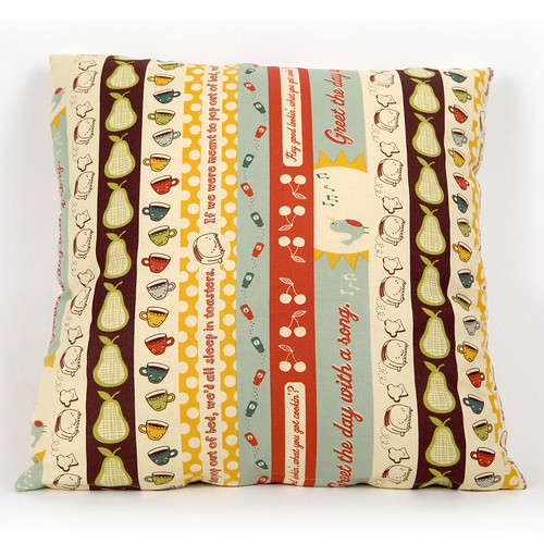 Cushion Cover Early Bird Breakfast Strip by Andover