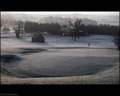 Frozen Greens (peterphotographic) Tags: uk winter england cold green grass golf frost britain gloucestershire tewkesbury canong12