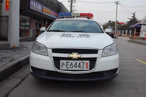 shanghai police car