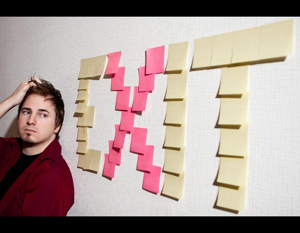 Day 170, 170/365, Project 365, Strobist, Self-Portrait, Sticky, Sticky Notes, Ourdailychallenge, odc