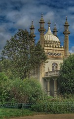Royal Pavilion.. (bluebell girl) Tags: minarets tower clouds sky trees palace building dome royalpavilion pavilion royal canong12 england eastsussex brighton