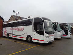 YR59NOF Oakleaf Coaches at Blackpool Pleasure Beach (j.a.sanderson) Tags: oakleaf coaches blackpool pleasure beach yr59nof scania k340eb4 lahden omniexpress registered new january 2010 swiftsure burtonontrent coach barnsley