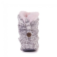 Celine - Popcorn Knitted Slipper Boots - Grey (Bedroom Athletics) Tags: popcorn knit exterior faux fur fleece lining tpr sole unit branded button detail new lightweight bedroomathletics