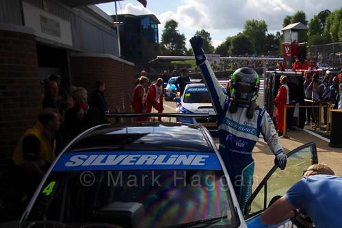 Colin Turkington celebrates his win during the BTCC Brands Hatch Finale Weekend October 2016