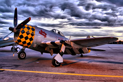 Jacky's Revenge (31LKiloKilo) Tags: new york ny museum night photoshop plane airplane island li photo airport nikon long fighter republic dynamic aircraft military revenge american jug airship d100 bent farmingdale hdr airpower airfield jackys thunderbolt aam aeronautic p47 frg cs5 kfrg dphdr