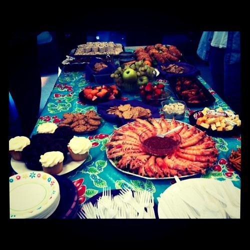 My farewell party spread.