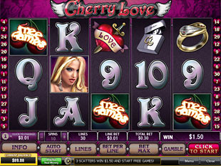free Cherry Love slot gamble feature
