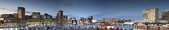 Inner Harbor, Baltimore Md. (pixbytommy) Tags: city lynch water tom buildings photography harbor md long exposure pano tripod maryland baltimore panoramic inner pixbytommy tomlynchphotographycom