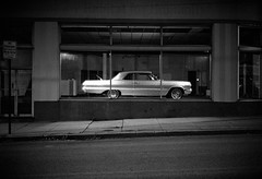 (patrickjoust) Tags: auto show street leica city urban bw usa white black blancoynegro film home glass car night analog speed america 35mm dark lens us high md focus automobile mechanical tmax f14 room cosina united voigtlander north grain patrick maryland rangefinder baltimore iso 1600 sidewalk developer showroom vehicle fujifilm after neopan parked 40 states behind manual 40mm m3 joust 3200 range finder developed keswick hampden nokton cv wetzlar develop estados blancetnoir unidos leitz schwarzundweiss autaut voigtlandernokton40mmf14mc patrickjoust