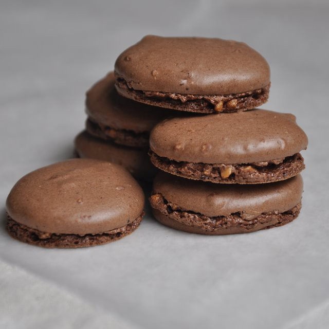 5223019786 f516456343 z Chocolate Filled Chocolate Macarons (The French Way)