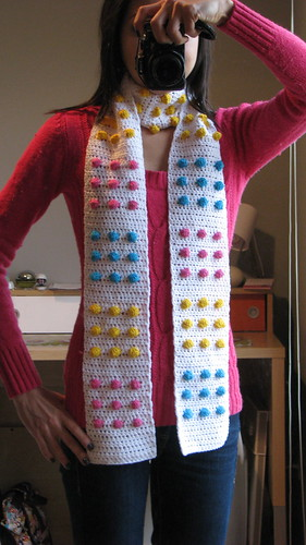 Ravelry Candy Button Scarf Pattern By Twinkie Chan