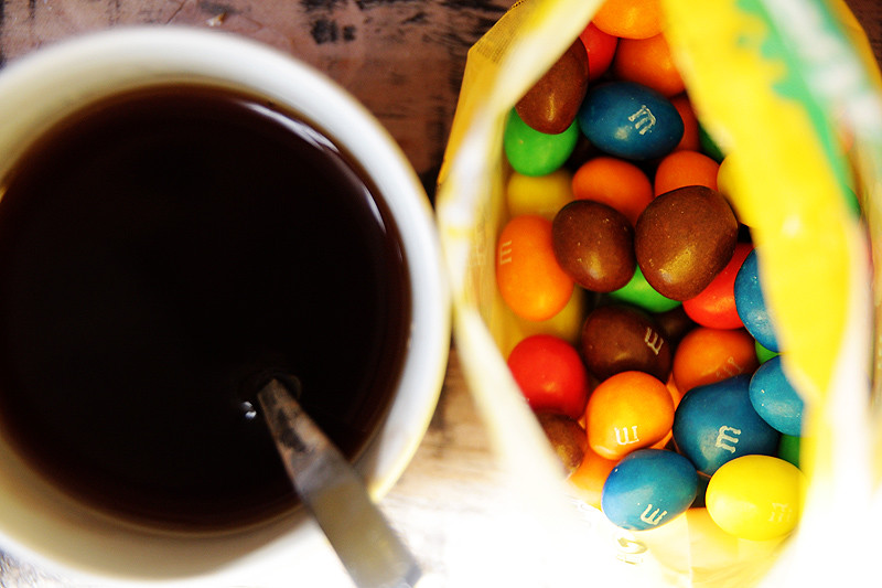 m&m's and tea rock!
