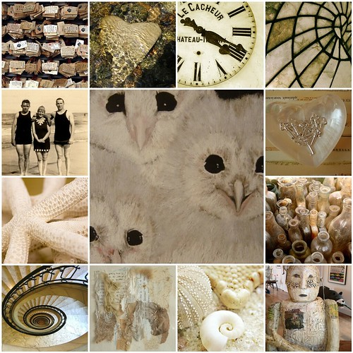 Beige , creme en zwart   All images are from my Flickr friends