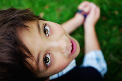 carson on grass (scoopsafav) Tags: boy portrait color green face grass kids portraits outdoors kid eyes leighduenasphotography