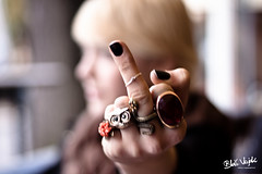 The Finger! (Bla Vizjak) Tags: girl dof hand finger coffeeshop ring madness angry mad upset