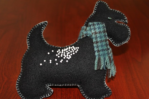 Scotty Dog Felt Pin Cushion