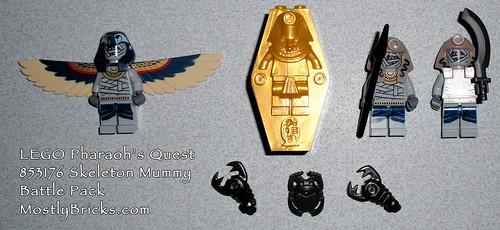 LEGO Pharaoh's Quest 853176 Skeleton Mummy Battle Pack