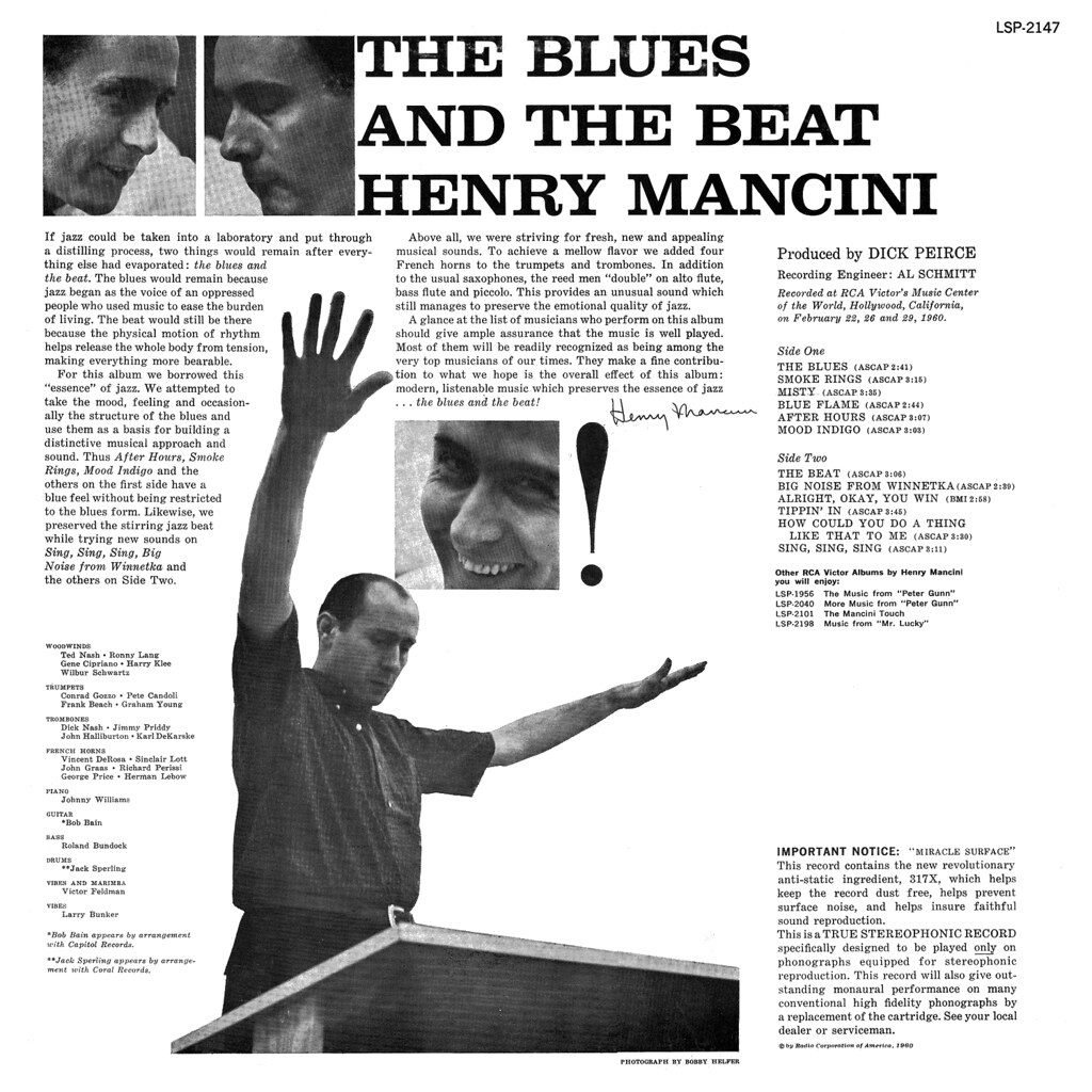 The Blues And The Beat Henry Mancini Songs Reviews Credits Allmusic